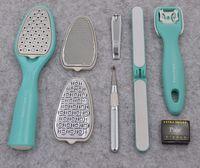 8 en 1 amovible pédicure pieds râpes callosités remover rasoir fichier de pied remplaçable dur peau morte trimmer outils manucure 8pcs ensembles
