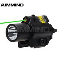 تكتيكية جديدة كومبو الخضراء البصر بالليزر 200LM LED مصباح يدوي السكك الحديدية 20MM لغلوك مسدس