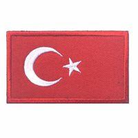 Turquía Bandera 3D bordado Brazalete National Soldado turco Logo Moral Badge Ropa Mochila Sombrero Chaqueta trozo decorativo