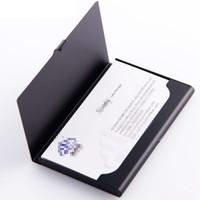 حامل بطاقة 100pcs الأعمال في حامل الجيب الأعمال الائتمان بطاقة الهوية حالة الألومنيوم بطاقة عمل الملفات مع DHL شحن
