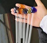Персиковое сердце стеклянная прямая плита, оптовые стеклянные бонги, стеклянный кальян, аксессуары для дымовых труб