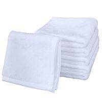 التسامي منشفة البوليستر القطن 30 * 30CM منشفة فارغة ساحة الأبيض منشفة DIY الطباعة الرئيسية فندق مناشف اليد الناعمة المناشف A03
