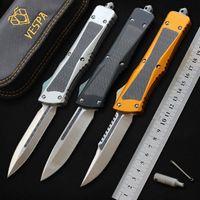 VESPA taktisches Messer Kampf S35VN Klinge Aluminium + Kohlefaser Griff Jagdmesser Outdoor Survival EDC Werkzeug Taschenmesser Camping