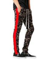 Pantalons Hiphop Hommes Camouflage Sport Jogger Pantalon Printemps Taille Élastique Rayé Crayon Athlétique Casual Crayon