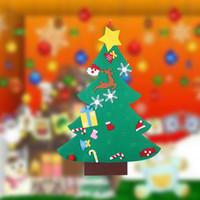 DIY feutre Ornement de Noël de bricolage décorations pour les enfants Chambre autocollantes Felt Arbres de Noël Enfant Cadeaux