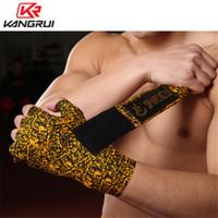 زوج واحد الملاكمة ضمادة قفازات المعصم الأشرطة الرياضية ساندا التايكواندو اليد الأغطية Bandagem الملاكمة التايلاندية 3M 5M ضمادة T191226