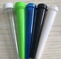 98mm pré rouleau emballage plastique tubulaire cône pré laminage doob émoussée tube conique joint noir clair avec étiquette personnalisée de bouchon résistant aux enfants