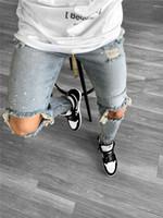 رجل جينز ربيع جديد الخريف أزياء سروال رصاص pantalones عالية الشارع تمتد الرجال مصمم الجينز