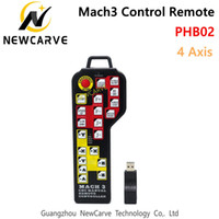 Manual CNC Mach3 4 Eje del USB Control remoto colgante DSP JOG codificador para Mach3 NEWCARVE