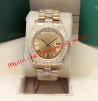 9 Stil 228238 Gümüş Şampanya Roma Dial İzle BP 41mm 18 K Sarı Altın Elmas Bilezik Otomatik Moda erkek Saatler Kol
