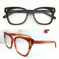 موضة جديدة أعلى جودة النساء تصميم بصري إطارات رجال خمر خلات نظارات جولة النظارات بلانك النظارات الإطار الجملة Eyewear1058