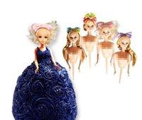 Muñeca Pastel Molde Plástico Bobbi Muñeca Toppers Vestido Pastel Muñeca Herramientas de decoración de pasteles de cumpleaños Decoración de la boda