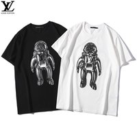 3cef1450 ... space astronaut ribbon embroidery letter top student round neck short-sleeved  T-shirt male. US $36.54 / Piece. New Arrival