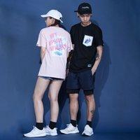 2020 T-shirts Tendance Mode Hommes Vêtements imprimés Fun lettres imprimées Graffiti T-shirts Tops Hommes Femmes Casual lâche style sport T-shirts