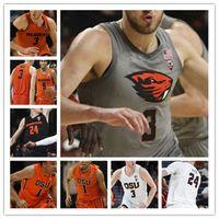 Колледж 2021 Новый Орегон Государственные Бобрыс Баскетбол Джерси Tres Tinkle Ethan Thompson Kylor Kelly Zach Reicle Alfred Hollins Jarod Lucas Hunt