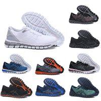 De calidad superior de los zapatos corrientes Gel-Quantum 360 zapatos para hombre Tejidos Vamp negro blanco rojo azul de las mujeres entrenadores deportivos zapatillas de deporte de la venta caliente