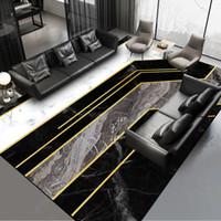 Черный белый серый золотой мраморный узор ковер выполненный на заказ ширина 2,6 м коврик для пола плюшевый печатный коврик для гостиной спальня коврик
