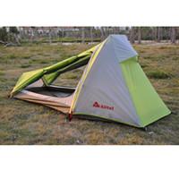 Alltel 정품 울트라 라이트 야외 캠핑 등산 야외 하이킹 더블 레이어 알루미늄 합금로드 단일 사람 텐트