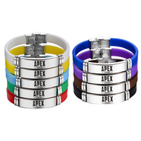 Apex Legends Wristband Black Red Silicone Bracelet Stainless...