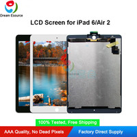 Premium Quality OEM Original LCD Assembled Screen Replacement for iPad 6/ Air 2 Compelete Display with Adhesive & Free DHL