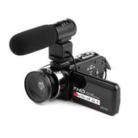 """HD 1080 P Câmera de Vídeo Digital 3.0 3.0 """"Tela de Toque HD 16 Zoom com Infravermelho IR luz Frete Grátis por E-packect"""