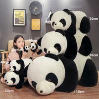 Panda gigante de la muñeca de peluche Jumbo lindo gordo abrazo oso de peluche de juguete almohada dormir juguetes para niños regalo de cumpleaños de la muchacha 43 pulgadas 110 cm DY50693