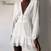 DICLOUD Sexy Plunge V Neck Women' s Spring Summer Dress ...