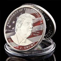US 45th presidente Donald Trump Artesanato América Faça grande comandante novamente 1oz Banhado a prata Desafio Moeda