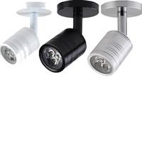 5W 3W Spot LED 220 V LED Downlight Holder surface murale Vitrine Bijoux Comptoir plafond Vêtements lampe d'éclairage Magasin