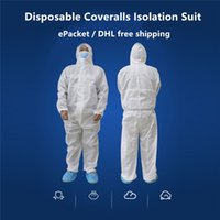 DHL Free Shippingable Excepable Protecting Isolation Suit Safety Protective Clothing Hooded Suit coveralls Antistatic