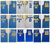 Vintage UCLA Bruins College camisetas de baloncesto Russell Westbrook Lonzo Ball Kareem Abdul Jabbar Reggie Miller Bill Walton camisas azules