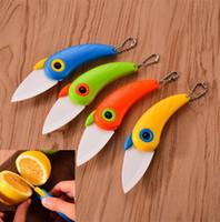 للطي سكين الفاكهة المحمولة السيراميك الخضار الطيور في الهواء الطلق الإبداعية الببغاء سكاكين المطبخ متعددة الوظائف الأطفال الطلاب طوي السكاكين