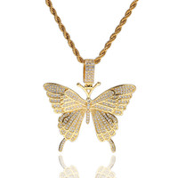 Necklaces Jewelry Fashion 18K Gold Plated Copper Butterfly P...