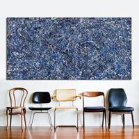 Sfondo blu di alta qualità moderna parete art hd stampa home decor astratto arte pittura a olio su tela jk15