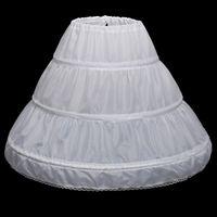 長いクリノリンキッズペチコートロカビリーアンダースカートクリノリンのための子供たちの花の女の子Petticoat Jupon enfant本物の2つのフープ