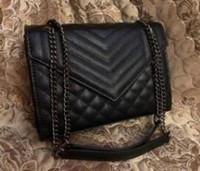 Yüksek Kaliteli Ünlü tasarımcı Omuz çantası Pu deri Moda Altın zincir çanta Çapraz vücut Saf renk Kadın kadın çanta çapraz vücut