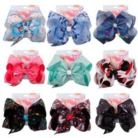 7 Inch Jo Bows Girls Bow Hair Clips Baby Polka Dot Cartoon H...
