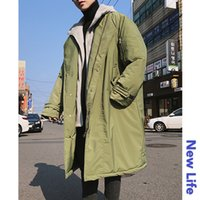 2018 Winter Men' s Casual In Warm Trench Loose Thicken L...