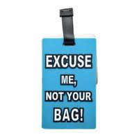 Tag PVC bagages pour l'identification des bagages Identifier Porte-étiquette pour valise Reconnaissable carte pour sac à main