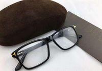 Hombres Marcos de gafas Marca Gafas Marcos Cuadrados con lentes transparentes Gafas ópticas Marco T5407 Gafas de miopía para mujeres con caja