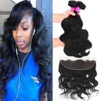 9A Brazilian Body Wave With 13x4 Ear To Ear Lace Frontal Clo...