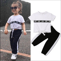 Ins girls suits kids summer clothes girls outfits kids track...