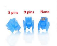 Mezo enjektör için şırınga iğne mezoterapi tabancası enjektör ile 5 pin 9 pin nano su mezoterapi İğneleri enjeksiyon mesogun