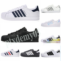Adidas Superstar 80s 2019 Hot SELL Fashion mens running shoes Superstar Female Flat Shoes Women Men Super star Lovers Original shoes p05