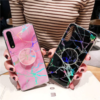 Caso del soporte de mármol titular del teléfono para el iPhone Holo 12 Mini 11 Pro X Max Samsung Galaxy S10 S20 Plus Ultra Nota 20