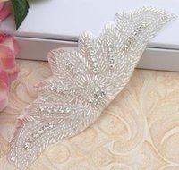 Venda quente casamento faixa de diamante pedaços head-end véu strass acessórios feitos à mão vestidos frisados decalques de strass