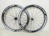مبيعات Dura Ace C50 عجلات دراجة الكربون 50 ملليمتر كامل الكربون عجلات الألومنيوم سبائك الفرامل سطح حافة الكربون عجلة