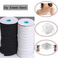109 Longueur Casse bricolage tressé Bande élastique du cordon de bande de couture en tricot largement utilisés pour les masques face 3 mm 4 mm 5 mm