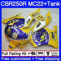 Inyección + Depósito para HONDA CBR 250RR CAMEL azul caliente CBR250 RR 95 96 97 98 99 263HM.48 MC22 CBR250RR 1995 1996 1997 1998 1999 1999