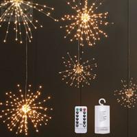 Noel ışıkları DIY Katlanabilir Buket Şekli LED Işıklar Havai fişek Pil Dekoratif 100 Peri Işıklar Garland Patio açtı İşletilen